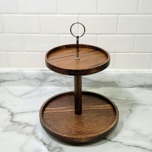 Two-Tiered Tray Stand
