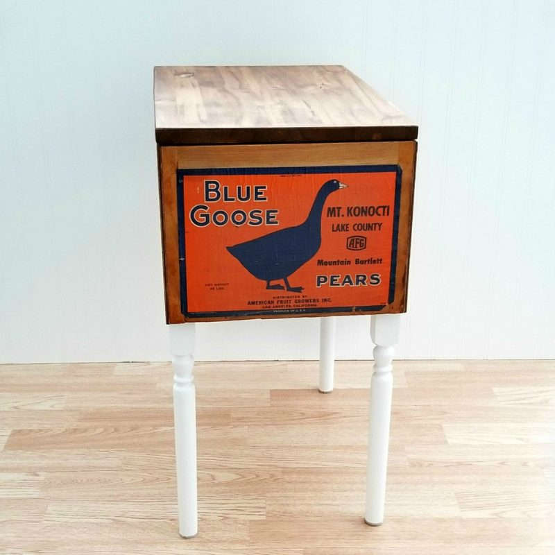 Fruit Crate Table- Blue Goose Main
