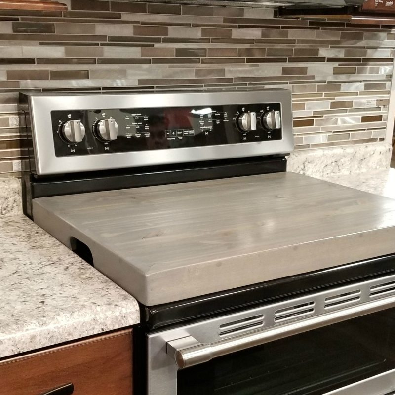 Stove Cover Notched Gray