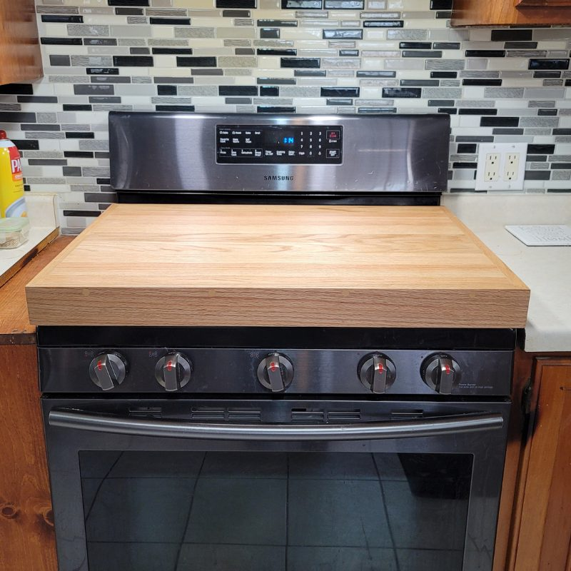 Red Oak Stove Cover- Main